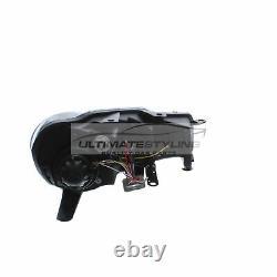 Vw Golf Mk6 2009-2013 Noir Drl Diable R8 Eye Head Light Lamp Paire Gauche Et Droite