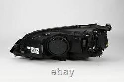 Vw Golf Mk7 12-16 Noir Bi-xenon Led Drl Phare Droit Driver O/s Oem Valeo
