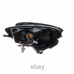 Vw Scirocco 2008-2015 Noir Drl Diable R8 Eye Head Light Lamp Paire Gauche Et Droite