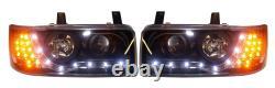 Vw T4 Caravelle (90-94) Nez Court/transporteur (90-03) Phares Led Noir Drl