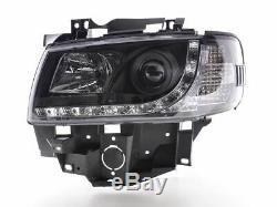 Vw T4 Transporter 90-03 Nez Long Black Eye Drl Diable R8 Tête Lumières Lampes Nouveau