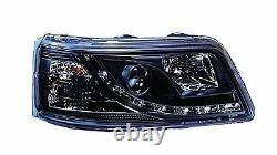 Vw T5 Transporteur Noir R8 Led Drl Daylight Running Lights Devil Eye Phares