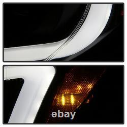 ^black Smoke^ Led Drl Projector Headlight Fit 06-07 Subaru Impreza Wrx Pair