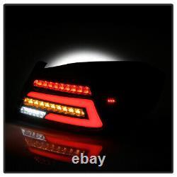 ^superflux Led^ Lampe De Course De Tube De Néon Feu De Queue Noir Pour 15-21 Subaru Wrx Sti